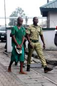 First Accused Person, Ifeanyi Dike after his arraignment at the High Court, Port Harcourt on Friday. Dike allegedly murdered Late 8-year old girl, Chikamso Favour