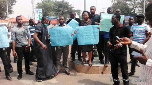 Protesting doctors in Ebonyi
