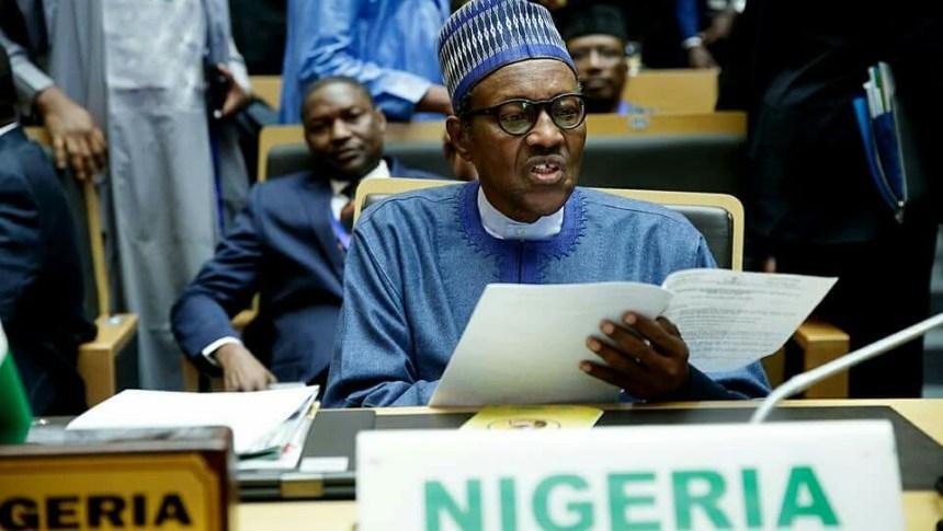 President Muhammadu Buhari at the AU Summit