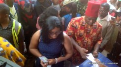 Victor Umeh's daughter casting their vote
