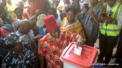 Mr. Umeh casting his vote