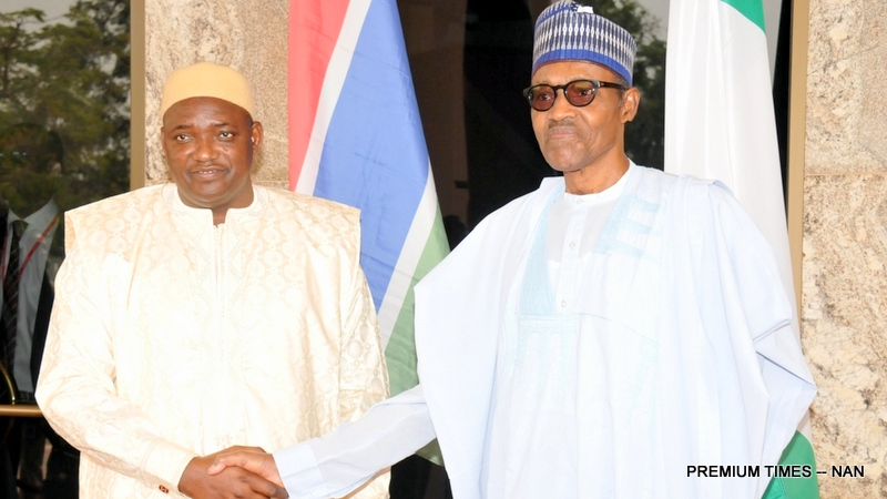 Barrow Visits Nigeria, Recounts How Buhari Forced Jammeh Into Exile