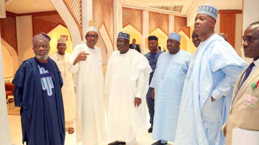 Benue killings: Saraki, others meet Buhari over Senate resolution
