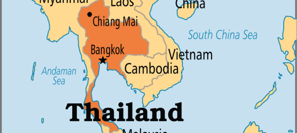 Thailand on Map used to illustrate the story. [Photo credit: Operation World]