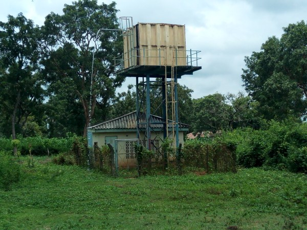 Water supply station at the centre