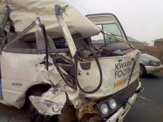 Nigeria Professional Football League club, Kwara United FC, involved in car accident.