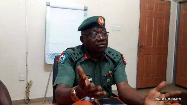 John Agim, the acting director of information at Nigeria's defence headquarters