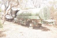 Abandoned boko Haram tanker