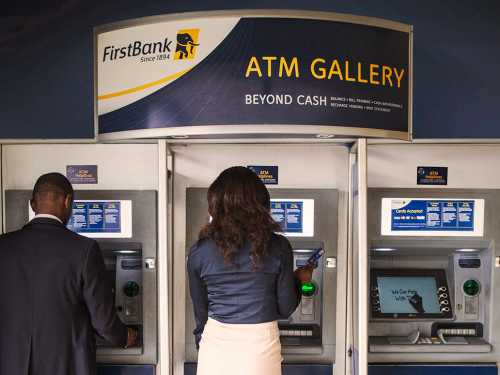 First Bank ATM used to illustrate the story.