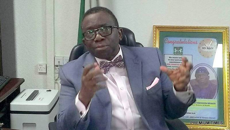 Prof. Isaac Adewole. Minister of Health