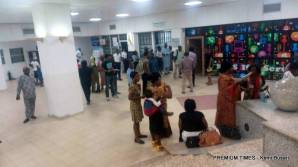 Fire outbreak at National Assembly causing rowdiness.