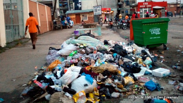 A heap of waste in Festac