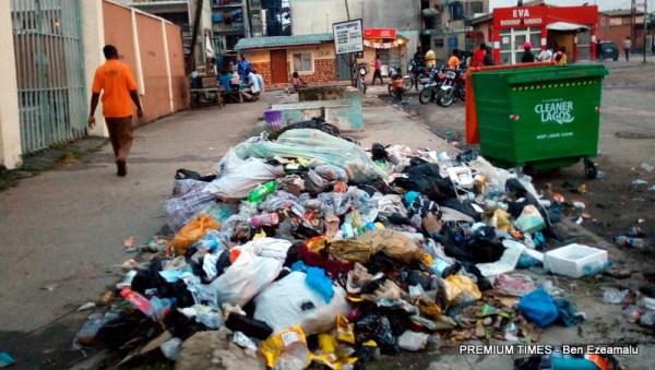 A heap of waste in Festac