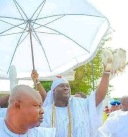 The Ooni of Ife at the Aje festival