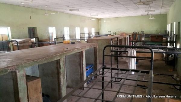 Inside the girls dormitory of GGSTC Dapchi