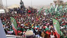 Crowd gathered at a PDP rally used to illustrate the story