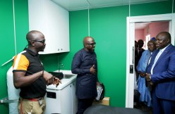 The Mobile Clinic Cancer Centre handed over to the Committee Encouraging Corporate Philanthropy (CECP) by Governor Akinwunmi Ambode at the Lagos House, Alausa, Ikeja, on Wednesday, February 14, 2018.