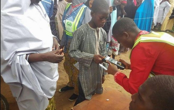 Image result for Video of underaged children voting in Kano LGA election leak