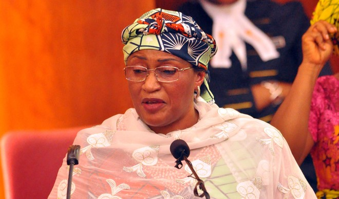 Minister of Women Affairs and Social Development, Aisha Al-Hassan. [Photo credit: DailyPost]