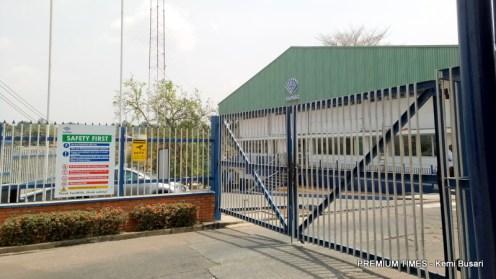 Entrance of Fan milk headquarters, Eleyele, Ibadan