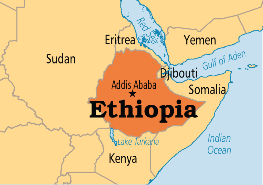 Ethiopian on map