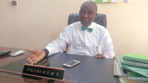 NMA President, Mike Ogirima, a professor of Orthopaedic and Trauma Surgery
