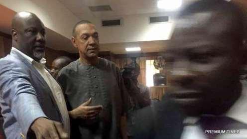Senator Dino Melaye with Senator Ben Bruce