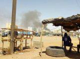 Smoke seen in the capital of Burkina Faso, Ouagadougou after the attack. [Photo credit: Dapo Olorunyomi]