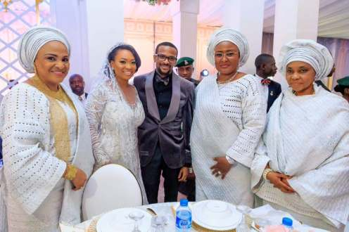 Aisha Buhari, others at the wedding reception of Idris and Fatima Ajimobi