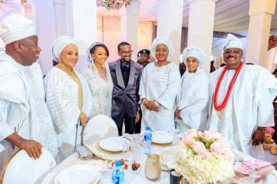 Osinbajo, wife, Aisha Buhari, governors, ministers attend wedding reception of Ajimobi's son to Ganduje's daughter