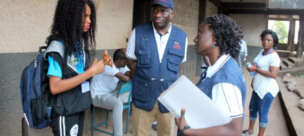 File photo of Former President Goodluck Jonathan who is the leader of the Electoral Institute for Sustainable Democracy in Africa (EISA) Observer Mission to the March 7 general elections in Sierra Leone set our early Wednesday morning to observe voting in some polling centres in Freetown. Pictures show Dr. Jonathan and members of his team visiting polling centres at Sierra Leone Grammar School Macauley Street and S. O. S Primary School Beach Road, both in Freetown, early this morning.