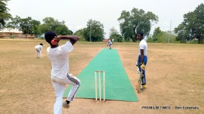 Regal Secondary School Nri Bowling to Government Secondary School, Owerri in the finals of the South East Secondary School Cricket Championship for