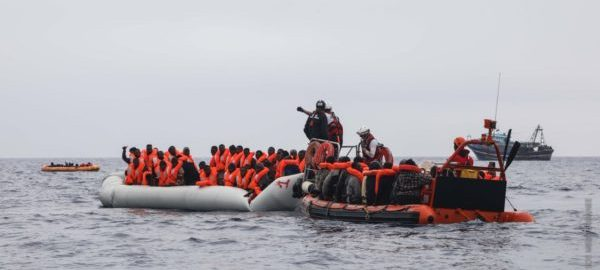 African Migrants on the Mediterranean sea