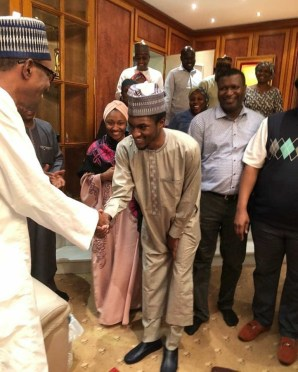 President Buhari welcomes son