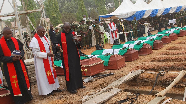 14 soldiers killed in Boko Haram ambush buried in Kaduna
