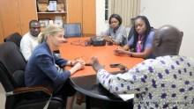 General Editor, Premium Times, Festus Owete, Lois Ugbede, Reporter with Nancy Lindborg, Oge Onubogu and Chris Kwaja