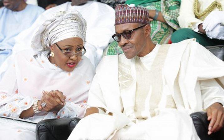 Aisha Buhari and Buhari
