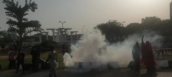 Police disperse #BBOG campaigners with tear gas
