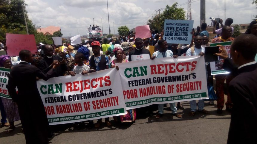 Image result for Christians protest against Herdsmen killings, demand better security