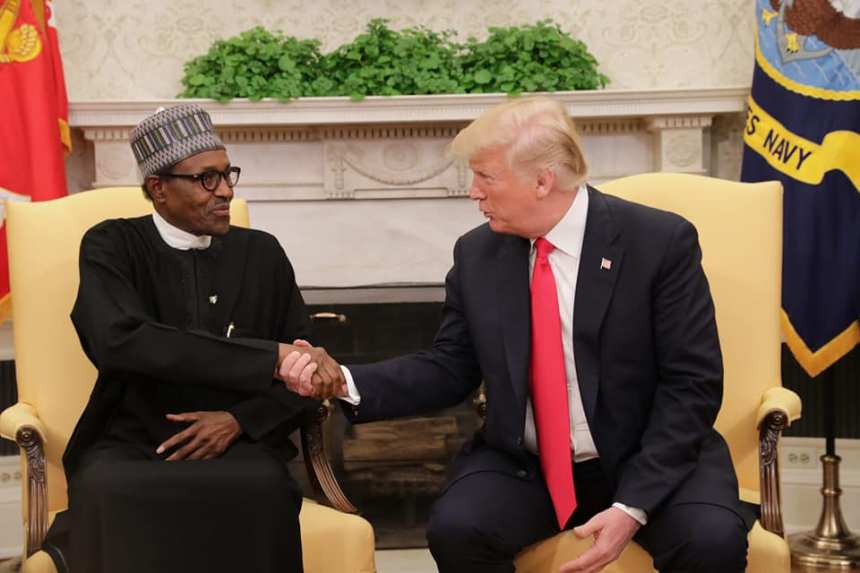 U.S. President, Donald Trump and Nigerian President, Muhammadu Buhari