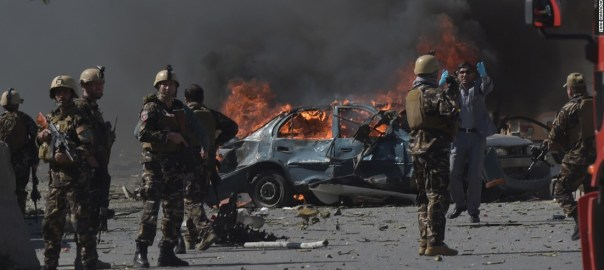 Troops at a scene of an explosion in Afghanistan used to illustrate the story