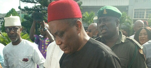 Senator Peter Nwaoboshi in court