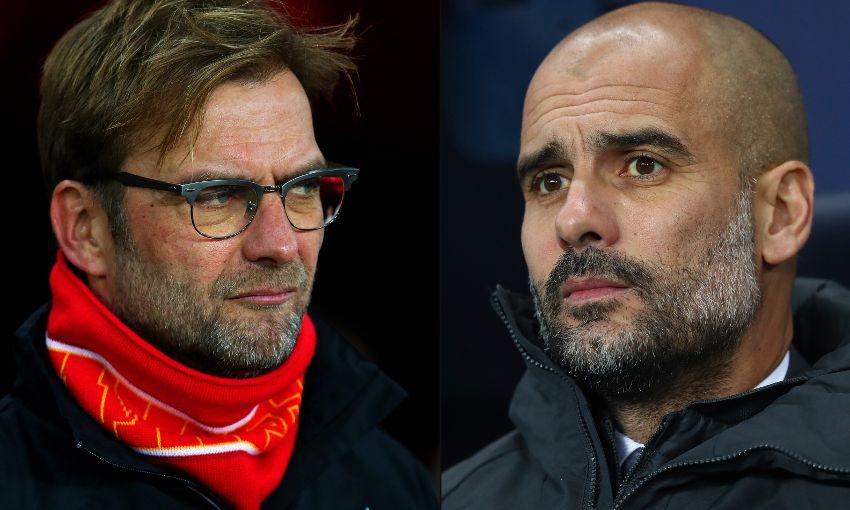 Jurgen Klopp and Pep Guardiola. [Photo credit: Liverpool FC]