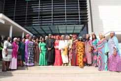 Saraki with members of the Conference of Nigeria Female Parliamentarians