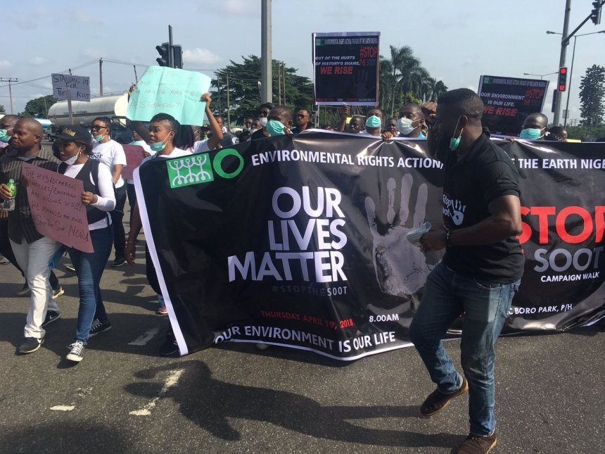 'Stop the soot' protest walk in Port Harcourt, Rivers State