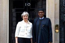 Theresa May and Muhammadu Buhari