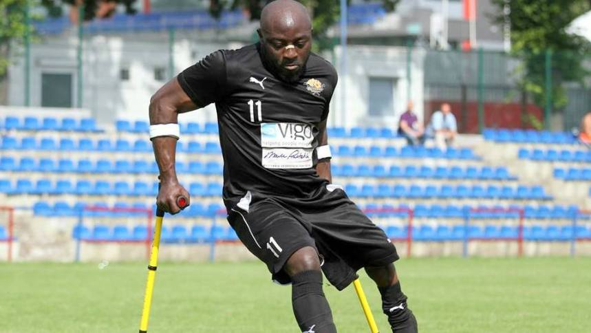 Special Eagles (Nigeria's Amputee Football Team) player Bamgbopa Abayomi
