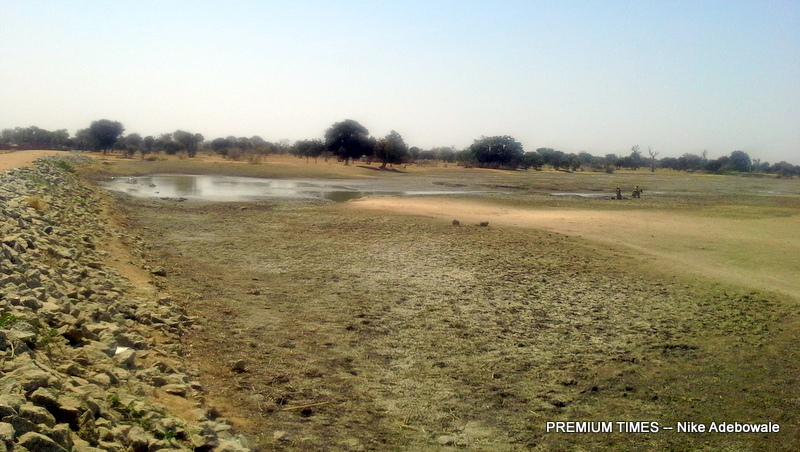 The abandoned earth dam in Danjaka, Kunchi local government area in Kano state