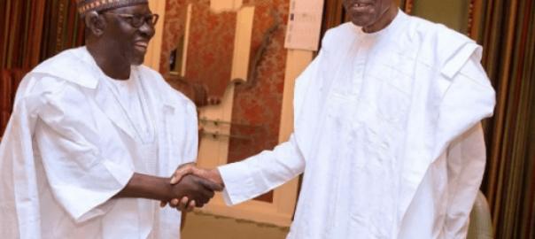 Gov Al-Makura greets President Buhari
