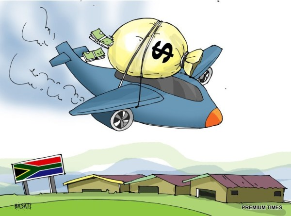 An airplane load of cash to buy black market arms in South Africa